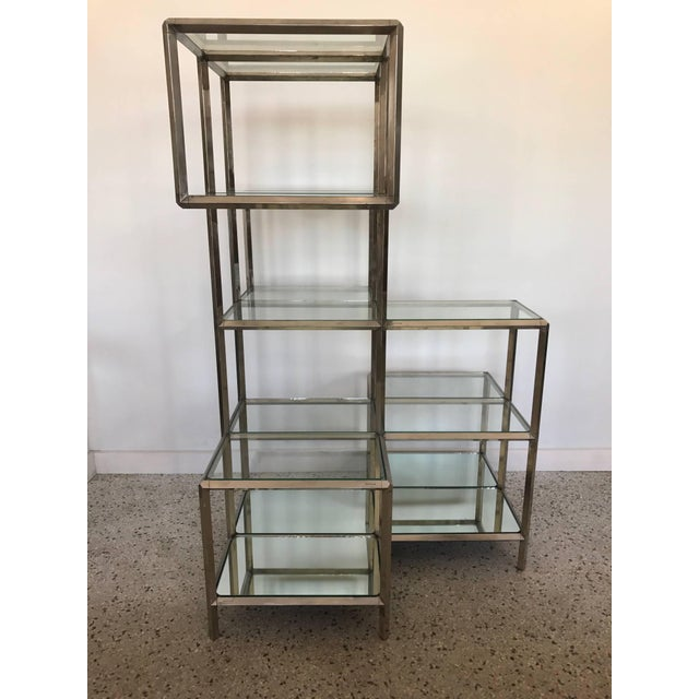1960s Modern Chrome Etagere For Sale - Image 10 of 11