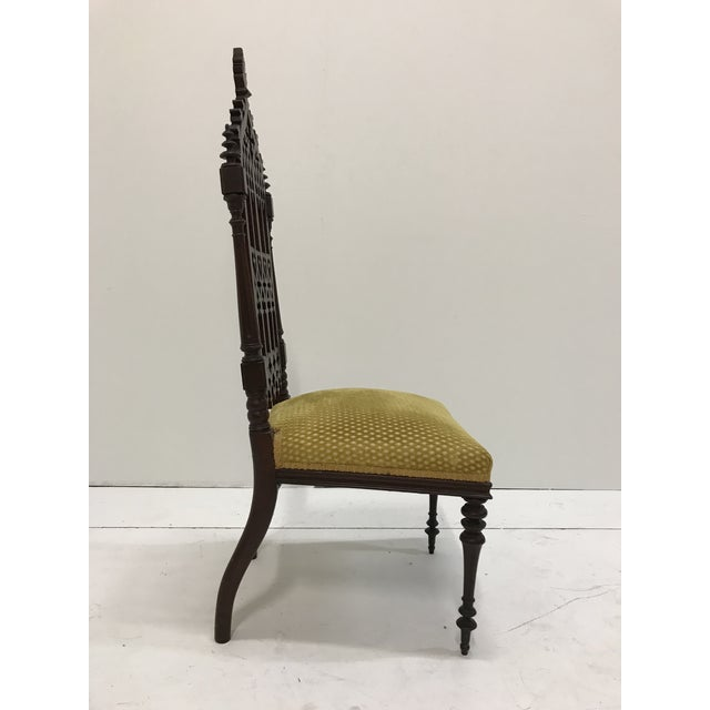 19th Century Victorian Gothic Period Petite Side Chair For Sale - Image 6 of 11