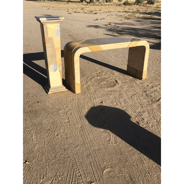 1980s Vintage Abstract Wood Pedestal For Sale - Image 9 of 11