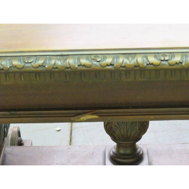 19th Century Carved Walnut Dining Table For Sale - Image 9 of 10