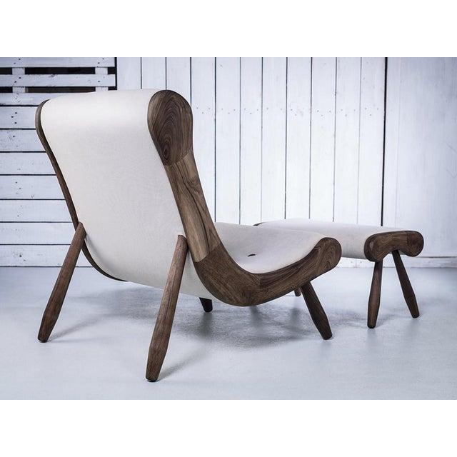 Danish Lounge Chair & Ottoman - Image 6 of 8