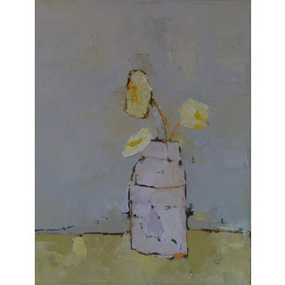 "Bill Tansey ""White Container"" Oil Painting on Canvas For Sale"
