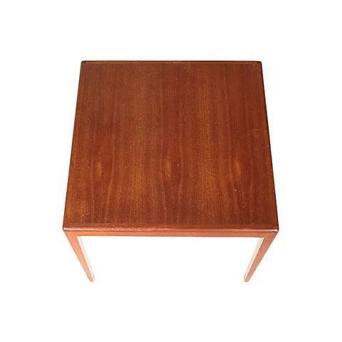 1960s Square Teak Side Table For Sale - Image 4 of 5