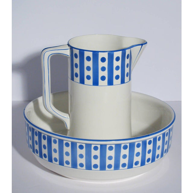 Large Belgian Porcelain Pitcher and Bowl - Image 8 of 9