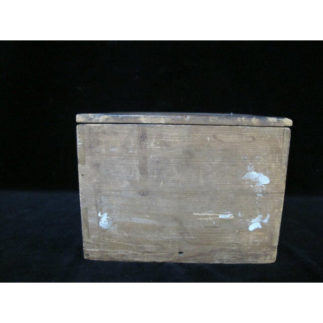 Mid 20th Century Signed Japanese Rustic Pottery Tea Bowl W/Wood Box For Sale - Image 9 of 11