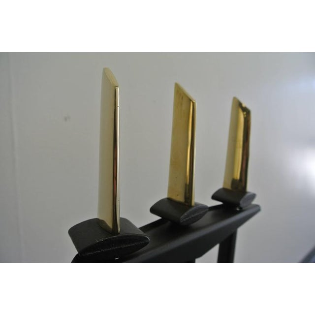 Mid-Century Modern Fireplace Tools by Donald Deskey For Sale - Image 3 of 6