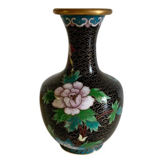 Vintage Cloisonné Vase For Sale