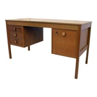 1960s Danish Modern Domino Teak Mobler Writing Desk For Sale