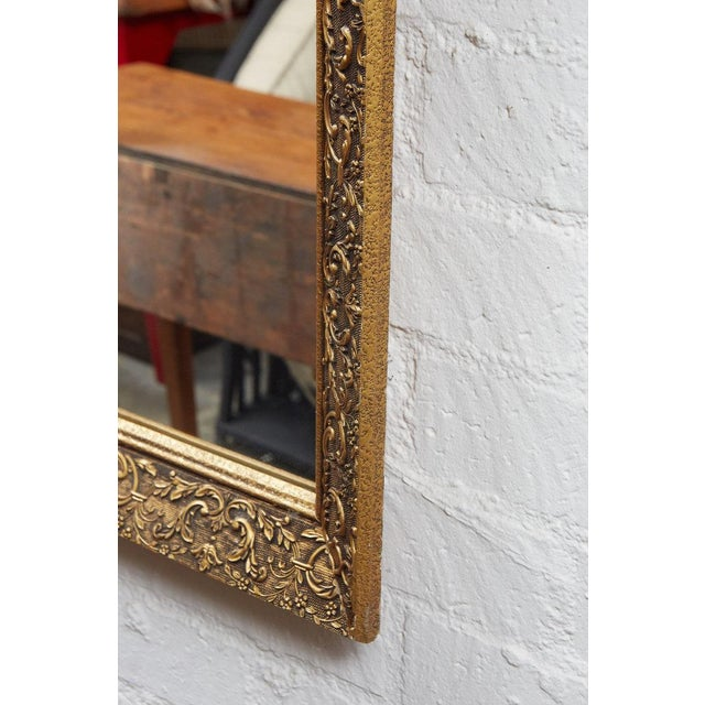 Long Gilded Mirror c. 1910 For Sale - Image 4 of 4