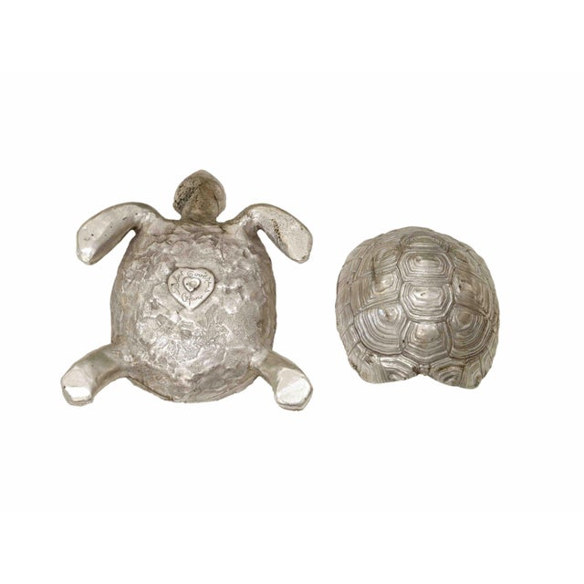 Robert Goossens Silver Plated Bronze Box With Turtle Shape, by Robert Goossens, Circa 1970 For Sale - Image 4 of 5