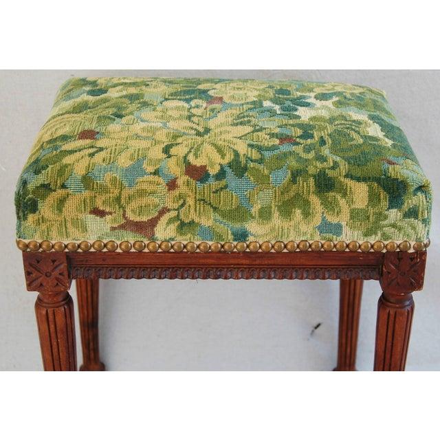 Italian Scalamandre Marly Fabric Bench - Image 3 of 11