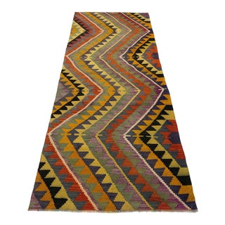 Dazzling Diamonds Vintage Kilim | 2'11 X 8'2 For Sale
