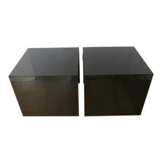 1970's Modern Smoked Plexiglass End Tables - a Pair For Sale