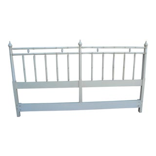 Hollywood Regency Painted King Size Headboard by Drexel For Sale