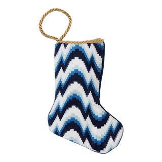 Classic Blues Flame Bauble Stocking by Kimberly Whitman