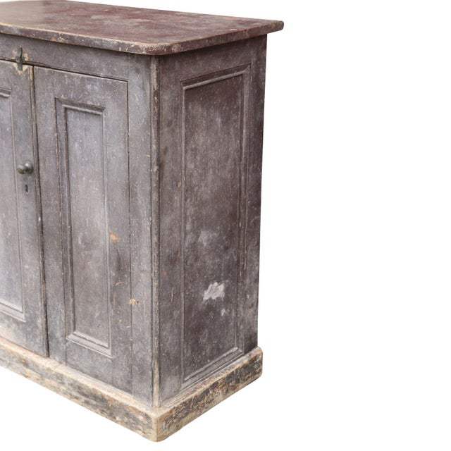 Mid 19th Century Painted Two-Door Cabinet For Sale - Image 5 of 7