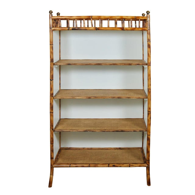 White Jw Custom Line Bamboo Bookcase For Sale - Image 8 of 8