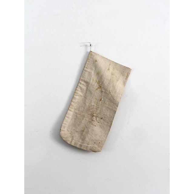 Early 20th Century Vintage Canvas Bank Bag For Sale - Image 5 of 6