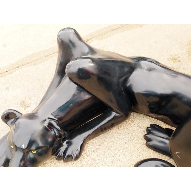 1970's Black Panther Coffee Table Base For Sale - Image 10 of 13