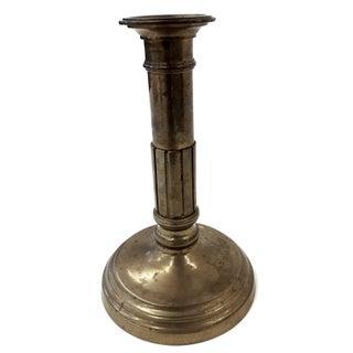 Antique Solid Brass Pillar Candlestick