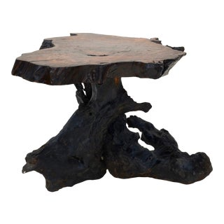 Mid Century California Modernist Redwood Burl Table For Sale
