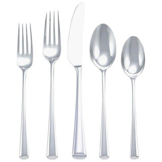 Bistro Cafe by Dansk Stainless Steel Flatware Set Service for 12 New 63 Pieces For Sale