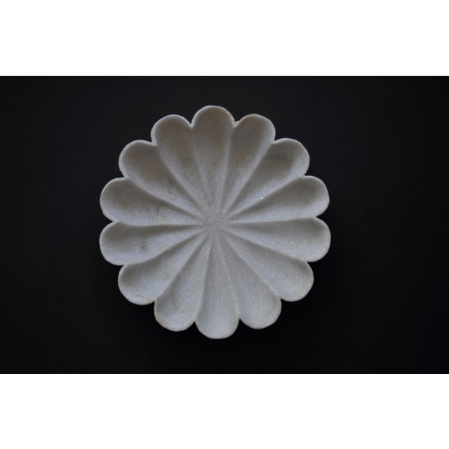 """Modern Marble Flower 12"""" Bowl For Sale - Image 3 of 6"""