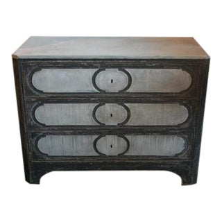 Spanish Painted Secretary With Zinc Top & Drawer Fronts, Circa 1930 For Sale