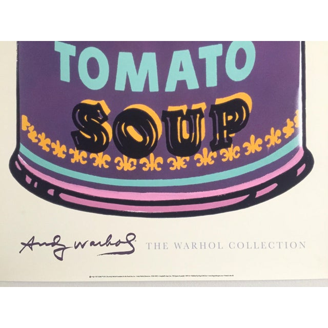 "Aqua Andy Warhol Foundation Lithograph Print Pop Art Poster "" Campbell's Soup Can "" 1965 For Sale - Image 8 of 12"