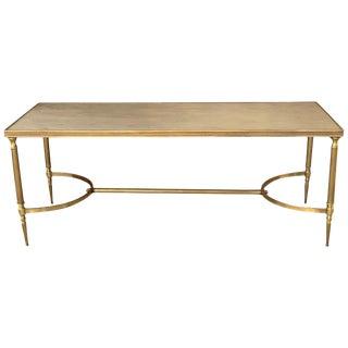 Rectangular Vintage Maison Baguès Style Bronze Center or Coffee Table For Sale