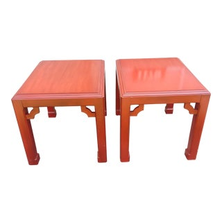 Vintage Asian Style End Tables - a Pair For Sale