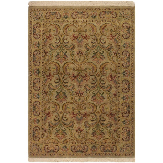 Green Pak-Persian Deandra Gray/Gray Wool Rug - 4'0 X 6'0 For Sale - Image 8 of 8