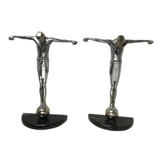 1920s Vintage Art Deco Figurines - a Pair For Sale