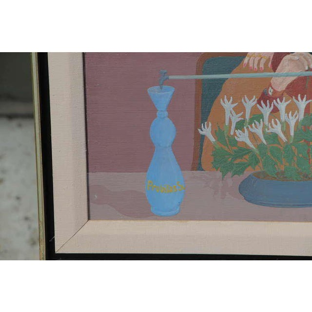 """Louis Auguste Dechelette 1964 """"Mixing Poison"""" Painting For Sale - Image 4 of 9"""
