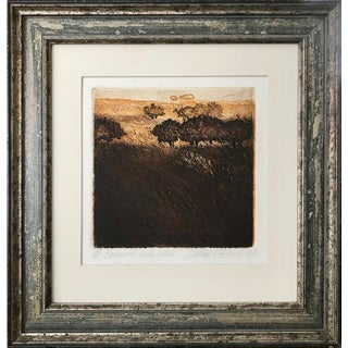 """Vintage Landscape Etching by William """"Bill"""" Hitchcock For Sale"""