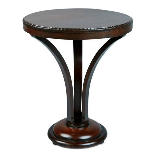 Beautifully executed cocktail or accent table by John Graz which has been newly imported from a private collector in...