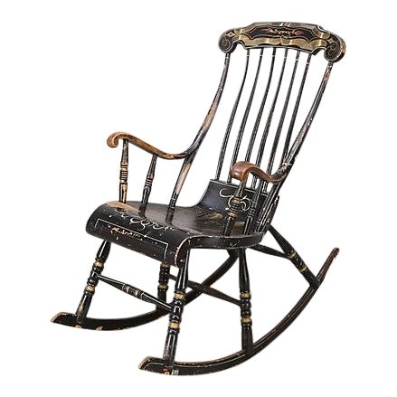 Swedish Antique Rocking Chair For Sale