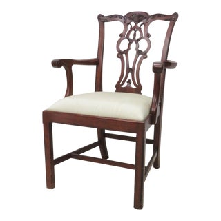 Maitland Smith Chippendale Style Armchair For Sale