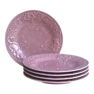 Majolica Dinner Plates by Bordallo Pinheiro - Set of 5 For Sale