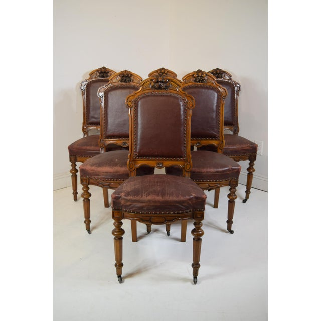 Mid 19th-Century Walnut Dining Chairs-Set of Six (6) For Sale - Image 12 of 12