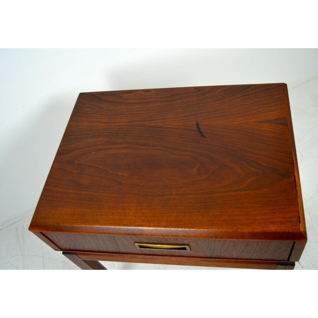Gold 1960s Mid Century Modern Founders Furniture Co. Walnut Nightstand For Sale - Image 8 of 10
