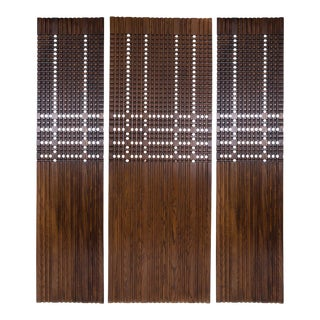 Walnut Architectural Panels - Set of 3 For Sale