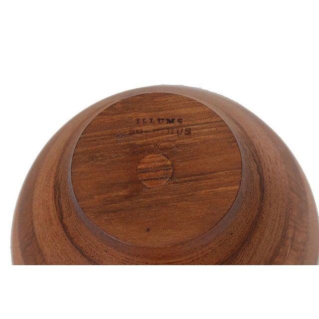 Trio Of Solid Danish Modern Teak Turned Wooden Bowls For Sale - Image 4 of 6
