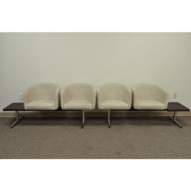Mid-Century Modern Vintage Mid-Century Danish Modern Rosewood End Tables Club Chairs Sectional Sofa - 2 Piece For Sale - Image 3 of 13