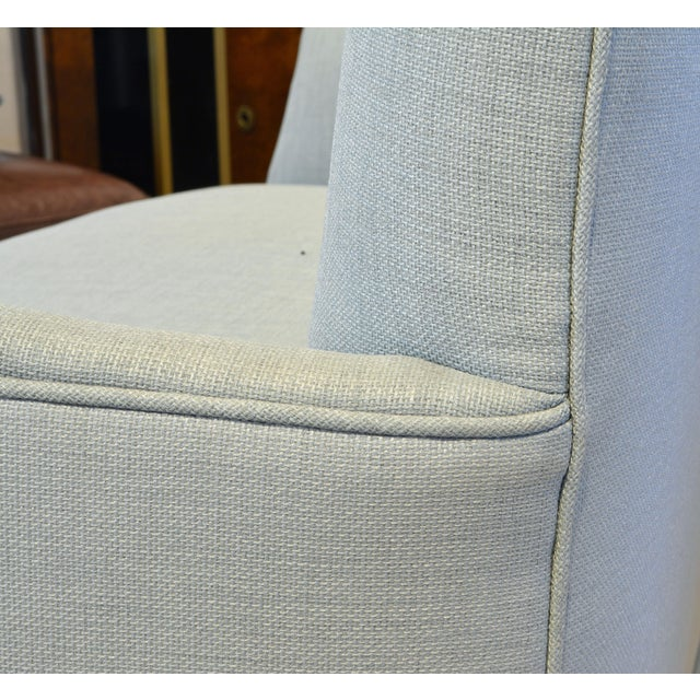 Late 20th Century Vintage Ico Parisi Style Seafoam Color Loveseat Settee With Great Curved Lines For Sale - Image 5 of 11