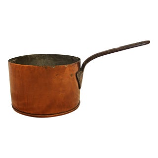 Antique French Copper Sauce Pan For Sale