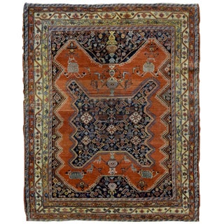 """1900s Handmade Antique Persian Mishan Malayer Rug - 4'9"""" X 6' For Sale"""