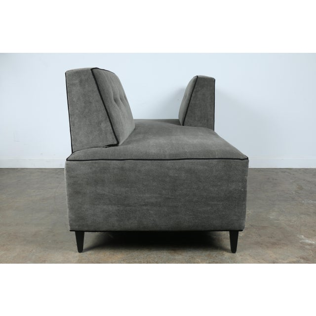 Gray Modern Mohair Double Sided Sofa For Sale - Image 8 of 11