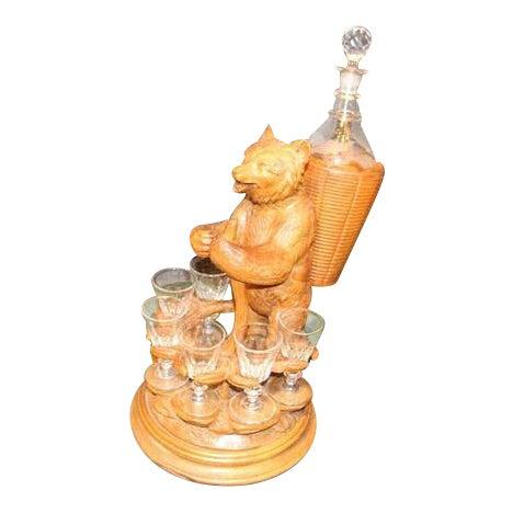 1900s Black Forest Liquor Set For Sale