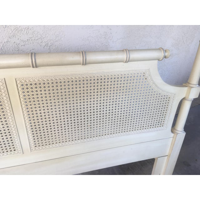 Mid-Century Caned Queen Headboard - Image 3 of 6